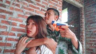 Hihahe Nerf War: Hero SWAT Nerf Guns Kidnapper Group Rescue Girl Princess Nerf