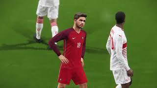 Portugal vs Switzerland (PES 2018) live broadcast camera full match gameplay HD