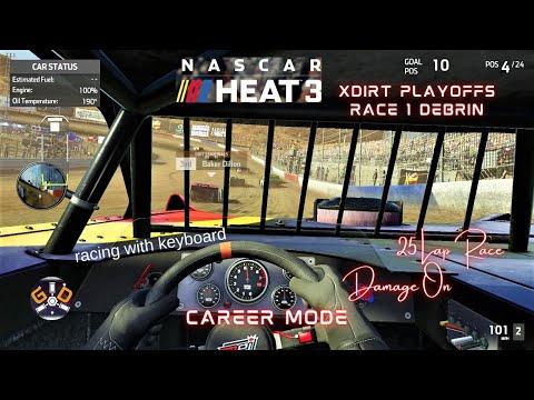 NASCAR HEAT 3 CAREER XDIRT PLAYOFFS RACE 1 PC 2021 FIRST TIME PLAY THROUGH |