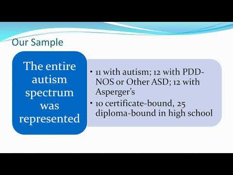 Transition and Youth with ASD: Opportunities and Barriers-  Connie Anderson 1