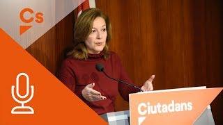 Carina Mejías. Rueda de Prensa en Ayuntamiento de Barcelona