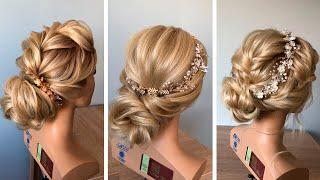 Прически из прямых волос 3 buns of straight hair for long hair