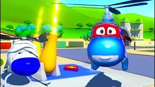 Carl The Super Truck And The Helicopter In Auto City 🚁 Cartoons For Kids