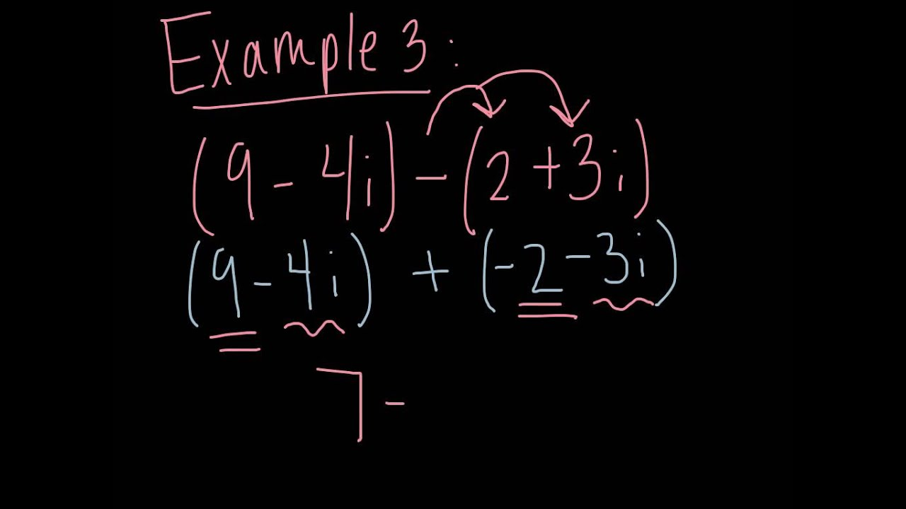 Adding and subtracting complex numbers   YouTube