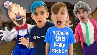 ESCAPE THE BABYSITTER! (In Real Life) Scary Teacher 3D