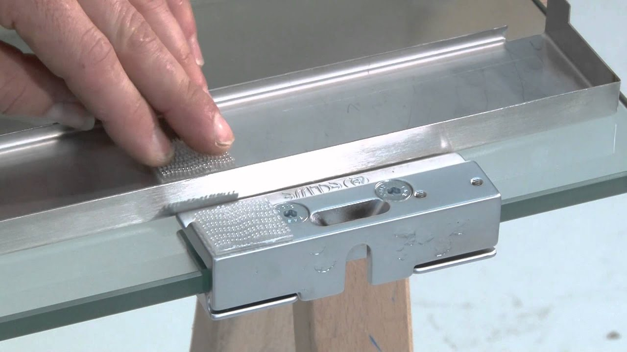 Vitro on 10 mm glass door with brackets installation youtube eventelaan Choice Image