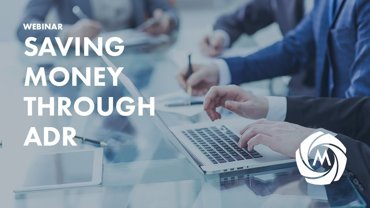 How Corporate Counsel Can Save Money Through ADR video
