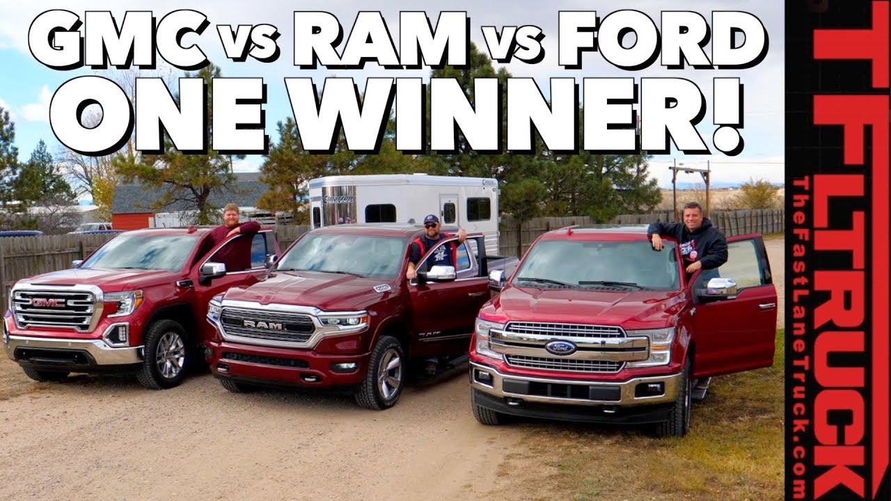 2019 Ford vs GMC vs Ram: Here Is the Most Efficient Towing Half-ton Truck  in America!