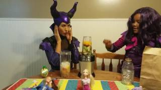 Mal and Maleficent Smoothie Challenge