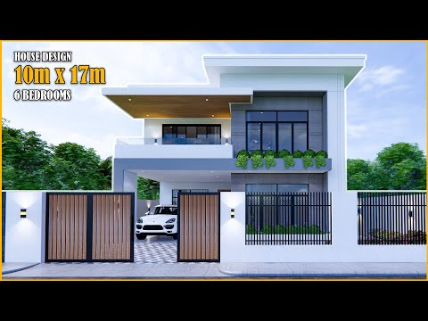 House Design | Modern House 2Storey  | 10m X 17m With 6 Bedrooms