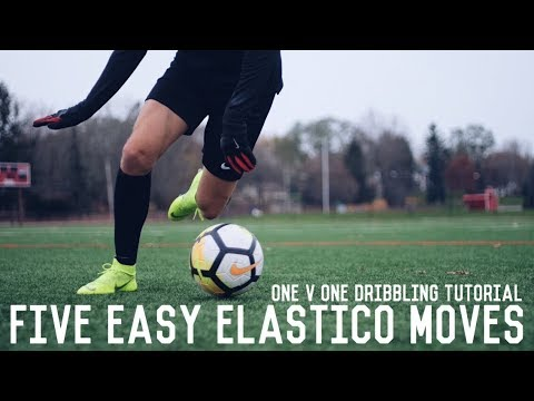 5 Easy Elastico Moves To Beat Defenders | One v One Elastico Match Skills