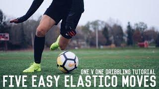 5 Easy Elastico Moves To Beat Defenders | One v One Elastico Match Skills