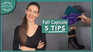 capsule wardrobe 5 tips to transition from summer to fall free template justine leconte