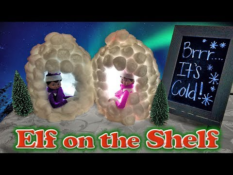 Purple & Pink Elf on the Shelf - Milk Jug Igloos & Hot Chocolate! Day 22