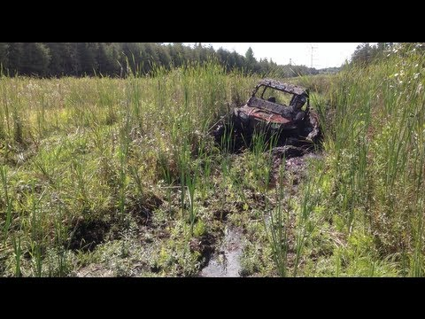 A bad day for the Polaris RZR, 2 broken axles! I beat on it pretty hard!  PowerModz!