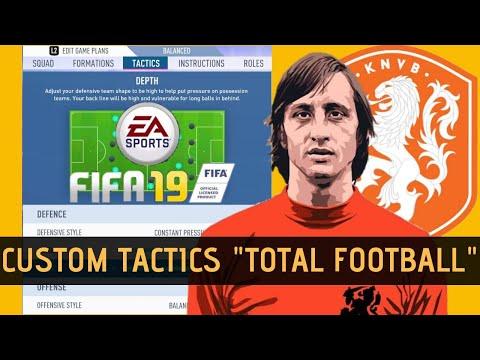 Custom Tactics FIFA 19 Johan Cruyff : How to Play TOTAL FOOTBALL in FIFA 19 ??