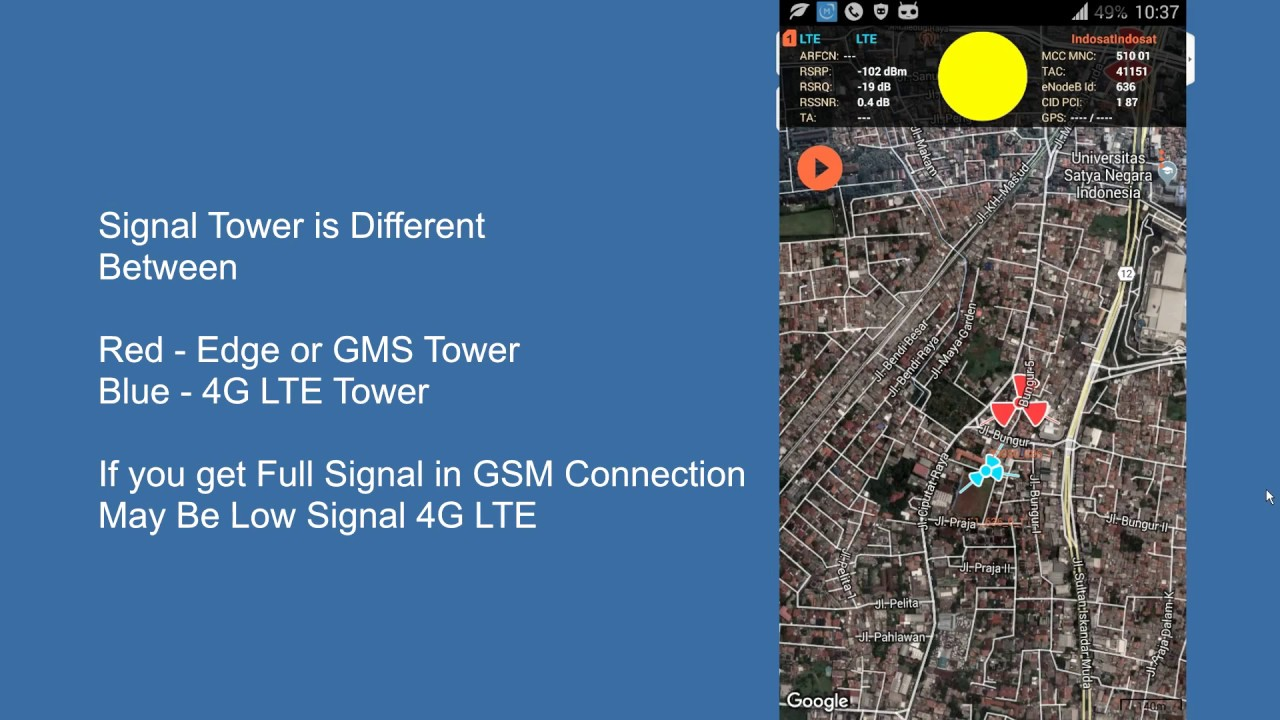 Cell Tower Location Map on