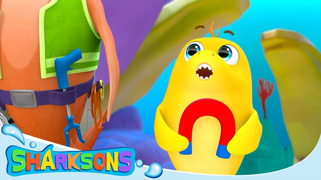 Recycling Plant Magnet | The Sharksons - Songs for Kids | Nursery Rhymes & Kids Songs