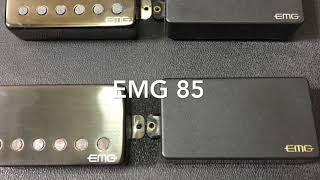EMG pickups comparison, 57/81/JH/85, bridge position.