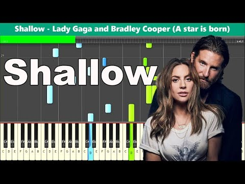 Shallow Piano Tutorial - Lady Gaga and Bradley Cooper (A