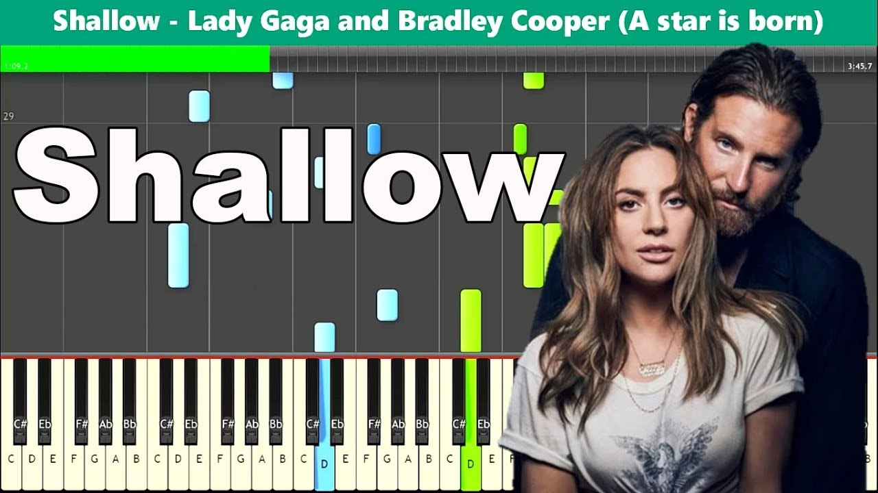 Shallow Piano Tutorial - Lady Gaga and Bradley Cooper (A star is born)