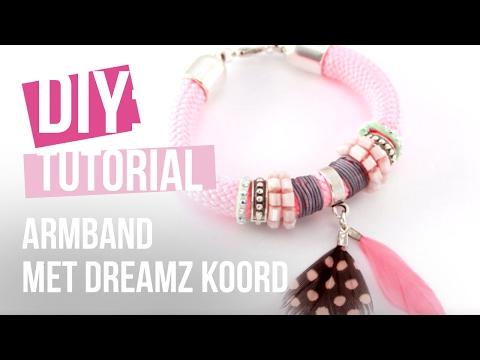 Sieraden maken: Mix & Match armband met dreamz koord ♡ DIY