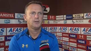 Van der Brom blikt vooruit op AZ - FC Twente