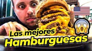 Comiendo las Mejores Hamburguesa de Estados Unidos 🍔😱
