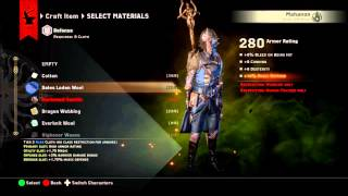 Dragon Age Inquisition How to Get Templar Armor Schematic Armor Rating 280