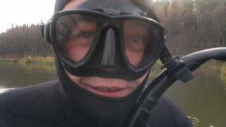 Подводная охота. прикол!!! 18+ ошибки начинающих часть 2 подвошья тропа 2 погружение 2012