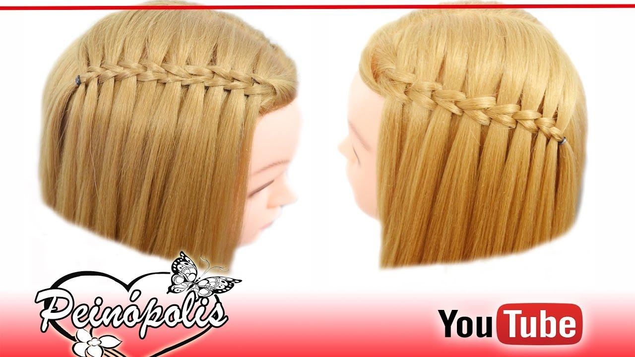 trenzas cascada peinados faciles y rapidos para cabello corto nias y la escuela