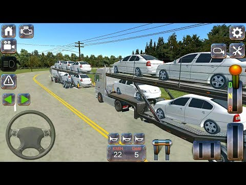 Actros Real Truck Simulator #2 - Car Transporter Semi Trailer - Android Gameplay FHD