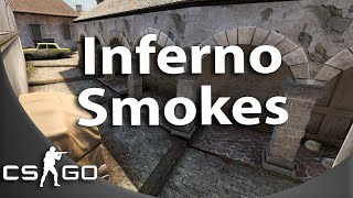 de_inferno - 11 terrorist side smokes