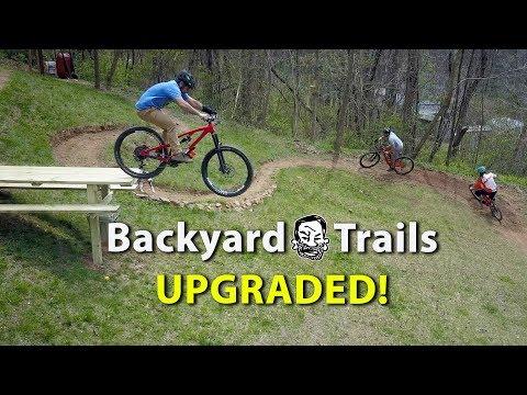 Backyard MTB Trails with 'Sicknic Table' - Berm Creek Upgrades