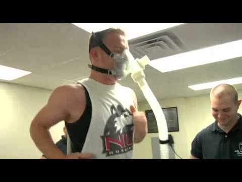 Exercise Physiologist Demonstrating VO2 Max Testing