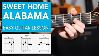 Sweet Home Alabama - Acoustic EASY 3 Chord Lesson - Lynyrd Skynyrd