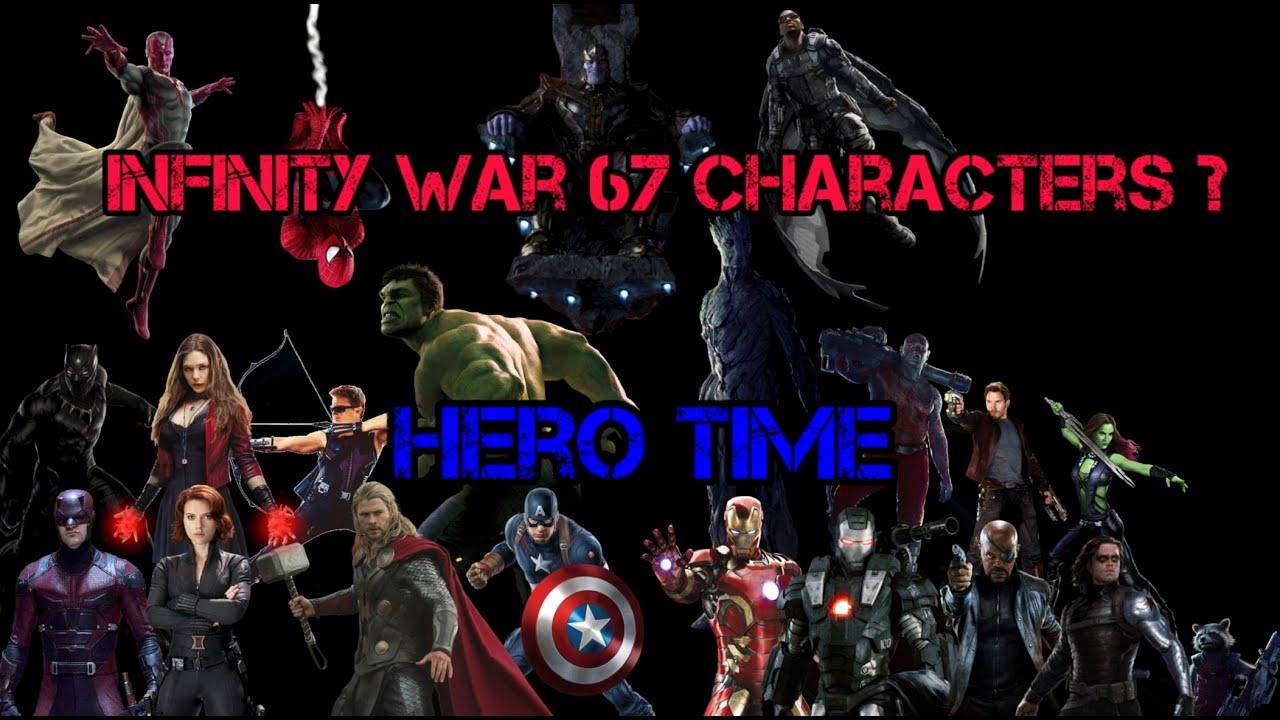 Avengers Infinity War 67 Character Hero Short News