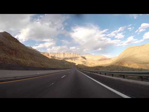 Timelapse Las Vegas to St. George, Utah