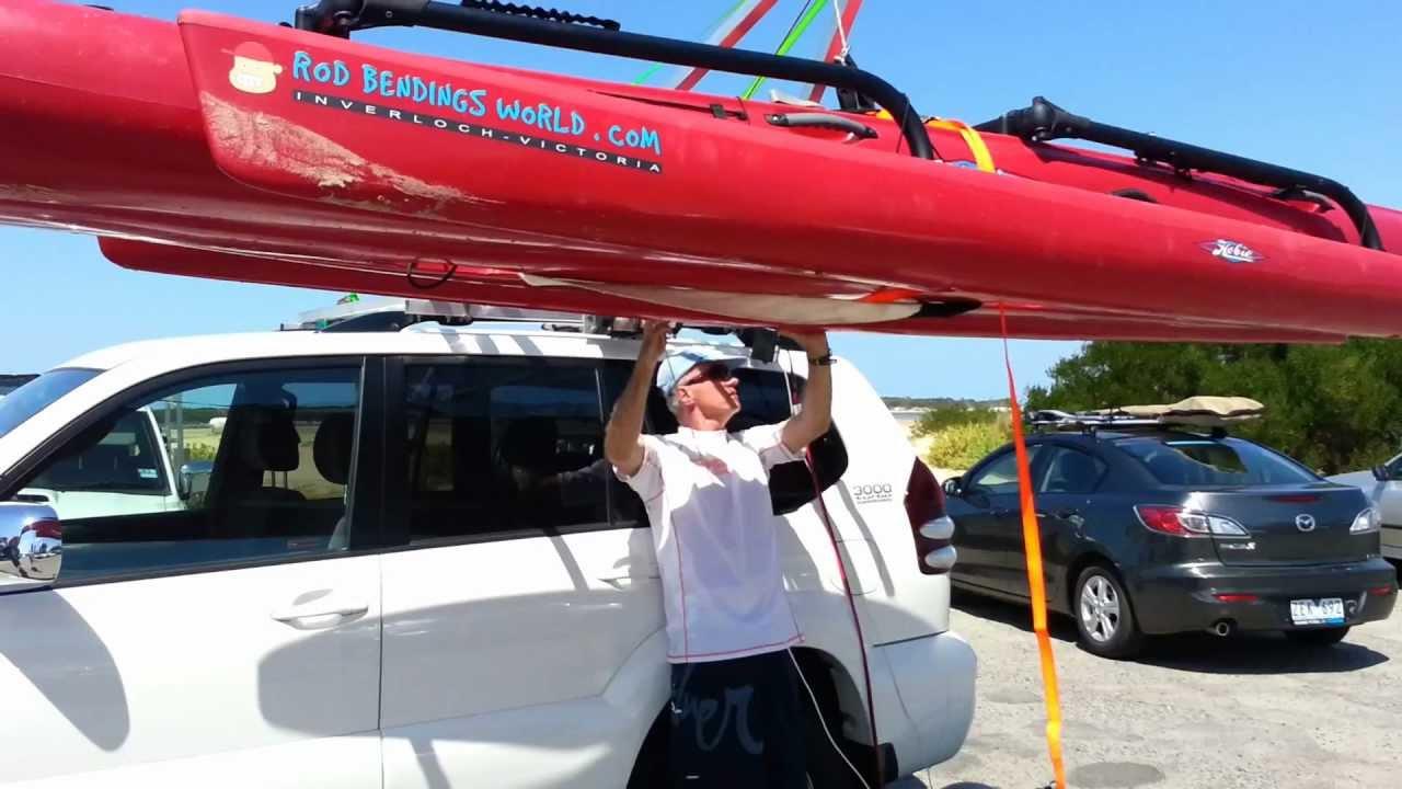 Kayak Hobie Tandem Island Rooftop Loader Loading
