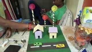 Science working project of wind mill by the students of madhusudhan global school
