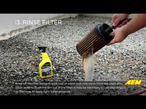 Official AEM Dryflow® Air Filter Cleaning Instructions