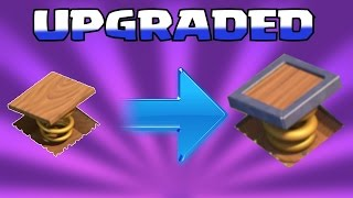 clash of clans upgrading lvl 5 traps monies trap