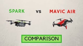 DJI Spark vs Mavic Air full comparison