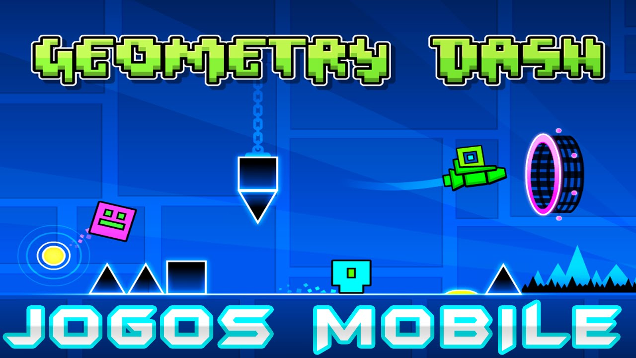 TRYING GEOMETRY DASH ON MOBILE! - YouTube