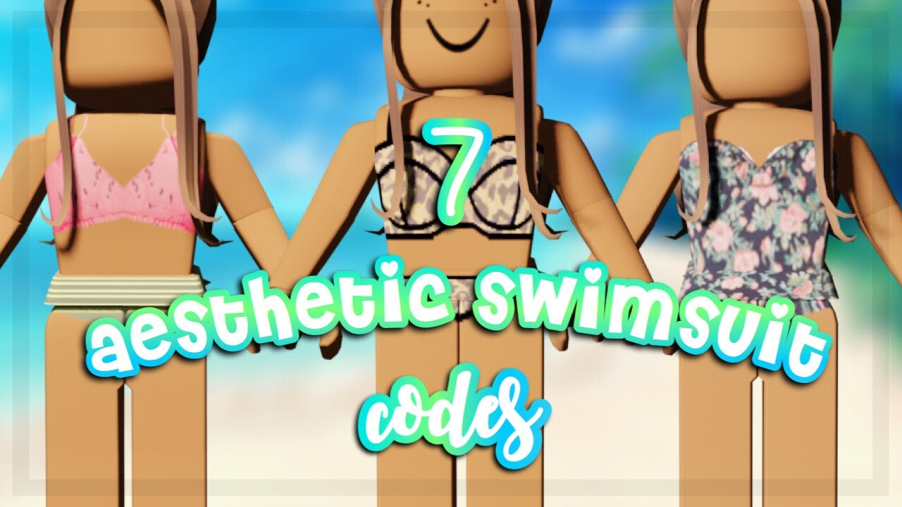 Aesthetic Swimsuit Codes For Bloxburg Roblox Youtube