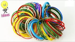 Best out of waste Bangles crafts idea | How to reuse old bangles | (Eti's ETC)