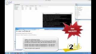 DIY Proxy Router: Aflevering 3: Configuratie NAT routing, Portforwarding, en Reverse Proxy
