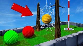 SPIDERWEB vs. GOLFBALLS! (Golf It Troll Map)