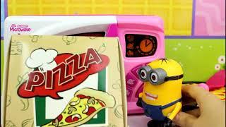 minion kitchen set and make pizza for kids