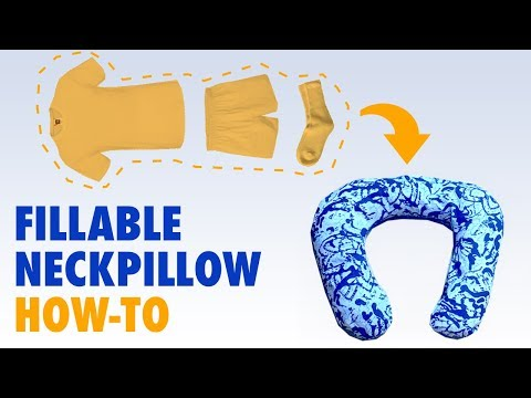 Neck Pillow Travel Hack - How To Make a Fillable Neckpillow